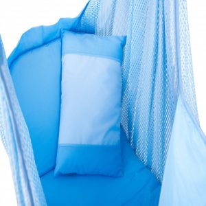 blue color baby sarong aka spring cot cloth